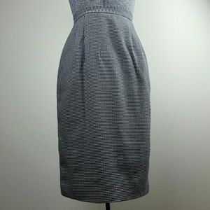 Vintage Navy Houndstooth Pin-Up Pencil Skirt
